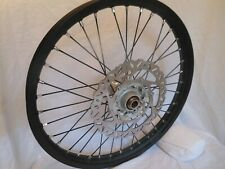 "New Complete KTM 21"" front Wheel, Black Rim, black spokes,Aluminum hub w/Disk"
