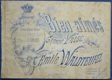 PIANO DANCE PARTITION ÉMILE WALDTEUFEL BIEN-AIMÉS PRINCE DE GALLES