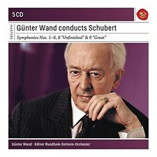 GÜNTER WAND CONDUCTS SCHUBERT: SINF.1-6 8,9 -  5 CD NEU