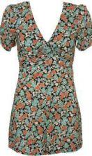 Topshop Busy Lizzie Floral Ditsy Tea Playsuit Romper 50s Style Vintage UK 12 40