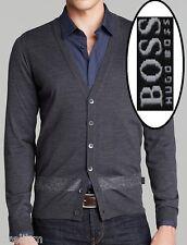 NWT Hugo Boss Black Label Wool Slim Fit Sweater Lightweight Cardigan Size L