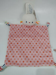 Baby Gund Bunny Polka Dot Lovey Security Blanket