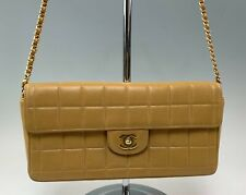Authentic Chanel Leather Flap Quilted Handbag Purse