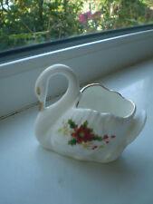 Royal Albert Poinsettia Swan Trinket Dish Bone China 1st Quality British