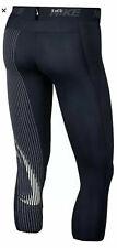 Men's Size XL Nike Pro 3/4 Training Tights Ao1813-010 Black/white Ao1813 010