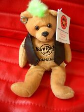 HRC Hard Rock Cafe Panama Punk Bear Mohawk 2009 Green Hair Herrington