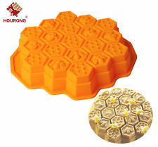 Bee Honeycomb DIY Flexible Silicone Soap Mold candy Chocolate Cake Moulds Tool