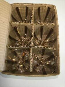Rare Old New Stock Princess Set of ( 6) BORDEAUX  Wine Whiskey  Stuck Germany
