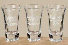 Alcool verres triés h9cm 70 ml verre clair clair Kit de 6