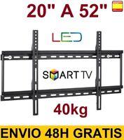 "Soporte de pared para tv lcd led 4K smart tv plasma 20"" a 52"" 40kg SUPER OFERTA"