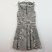 [ CUE ] Womens Print Jacquard Dress | Size AU 6