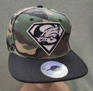 Philadelphia Eagles Ball Cap Camo & Black Flat Bill Snapback Super Birds Hat