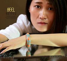 Bracelet Femme Turquoise Enamel Pierre Epoxy Super Chic Cadeau CT6