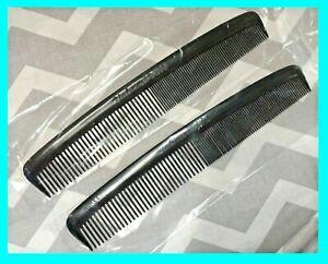 "2 Piece - 7"" Unbreakable Black Plastic HAIR COMB Men's Salon Barber USA!! New!!!"