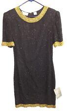 NEW Laurence Kazar New York India Beaded Silk Dress Petite Medium PM NWT