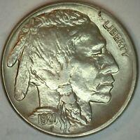1920 S UNC Buffalo Indian Head Nickel 5 cent US United States 5c Nickel K31