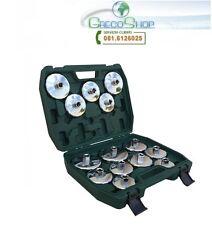Chiavi per filtro olio a tazza/bussola cromate set 14 pz in valigetta