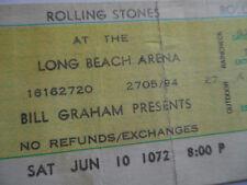 ROLLING STONES Original__1972__UNUSED_CONCERT TICKET__Exile Main Street__L.A.