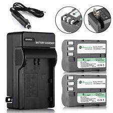 2 × 2200mAh EN-EL3E Battery + Charger for Nikon D50 D70 D80 D200 D300S D700 D9