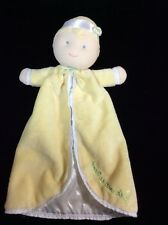 Carters Sweet As Can Be Doll Baby Security Blanket Yellow Lovey Comforter Soft