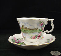 ROYAL ALBERT ANCESTRAL  SERIES ENGLANDS GLORY CABINET TEA CUP AND SAUCER