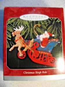 Hallmark Keepsake Christmas Sleigh Ride Die-Cast Metal Christmas Ornament 1998