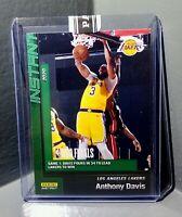 Anthony Davis 2020 Panini LA Lakers NBA Champions #21 Green Parallel Card 10/10