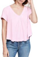 Free People Womens All You Need OB906694 Top Relaxed Pink Size XS