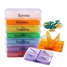 7 Day Large Pills Medicine Tablet Dispenser Organizer Holder Case pill box New