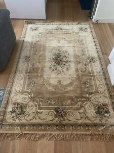 Large NEW Traditional Beige Gold Rug Living Room Carpet Soft Runner 230cm *160cm