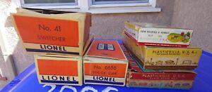 Original Lionel and Plasticville 6656 1617-100 MH4 RH1 41 Empty Box OB Lot.