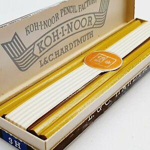 Vintage L&C HARDTMUTH KOH-I-NOOR 1 dozen unused wood pencil 1500 3H 1970's 2