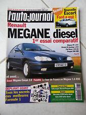 L'Auto-Journal 1995 No 423 Renault Megane Alfa 145 Mercedes C250 Td Volvo 850