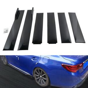 78.7'' Side Skirt Splitter Panel Extensions Rocker For Subaru WRX Impreza Legacy