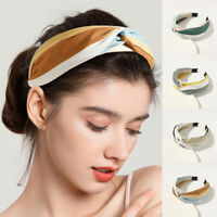 Women's Hairband Striped Head Band Wide Hair Band Hoop Headband Knot Accessories