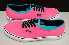 Vans Authentic Brite Neon Pink Black VN0004MLJOG Men's Size 11
