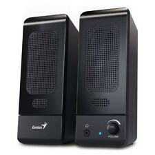 Genius Black Multimedia Stereo Speakers For PC Laptop Computer USB powered