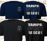 New TAMPA Fire Rescue FLORIDA Firefighter Department T Shirt S-4XL