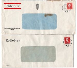 DENMARK: Lot 2 Radio letters Lyngby 1936+1945.