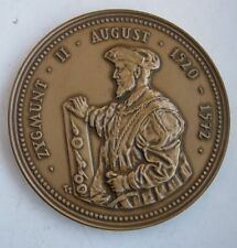 KING POLAND SIGISMUND II AUGUSTUS LAST OF JAGIELLONS UNION OF LUBLIN MEDAL br