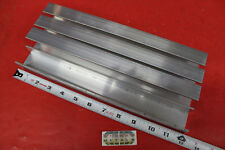 "4 Pieces 1-1/2"" x 1"" x 1/8"" Wall 6061 T6 ALUMINUM CHANNEL 12"" long Mill Stock"