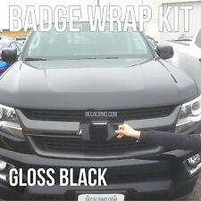 Black Truck Emblem Wrap Kit- For Chevy Colored Bowtie Vinyl Badge 3m Tahoe zl1