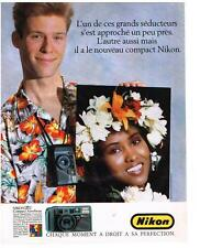PUBLICITE ADVERTISING  1983  NIKON  appareil photo