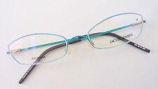 J.Jensen Damen Brille Brillenfassung Titan schmal türkis sehr leicht Gr. M