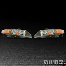 2006-2008 Acura TSX Set of 2 Headlight Lamp Clear lens Halogen LH RH Pair