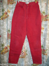 Carolina Colours Red Jeans size 12 Cotton Inseam 30 inch Waist 28 inch