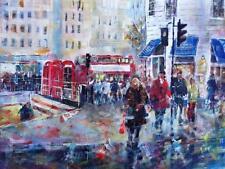 "BEAUTIFUL SERA KNIGHT S.W.A ORIGINAL ""Crossing the road in London""  PAINTING"