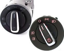 CHROM Lichtschalter Scheinwerfer Schalter NSW Nebelscheinwerfer VW GOLF PASSAT