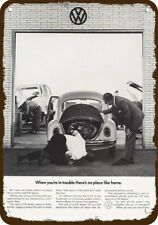 1969 VOLKSWAGEN BEETLE Car Vintage Look REPLICA METAL SIGN VW DEALER REPAIR SHOP