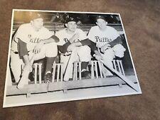 Rare Philadelphia Phillies Vintage 1950's 16x20 Reprint Poster Dug Out Shot
